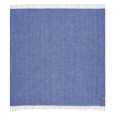 Waverley Mills Recycled;Throw Recycled Diagonal Throw Blue