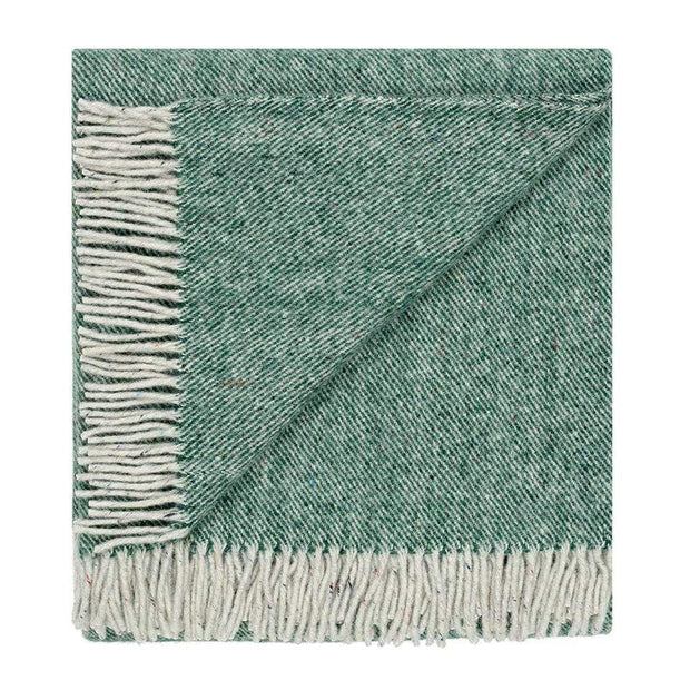 Waverley Mills Recycled;Throw Recycled Diagonal Throw Forest Green