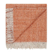 Waverley Mills Recycled;Throw Recycled Diagonal Throw Orange