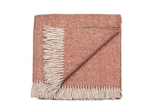 Waverley Mills Recycled;Throw Recycled Diagonal Throw Rust