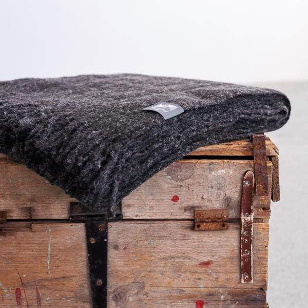Waverley Mills Recycled;Throw Recycled Fringed Throw Forged Iron