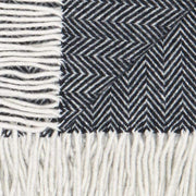 Waverley Mills Recycled;Throw Recycled Herringbone MP Throw Black
