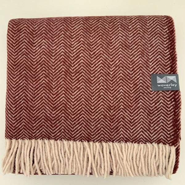 Waverley Mills Recycled;Throw Recycled Herringbone MP Throw Chocolate Truffle