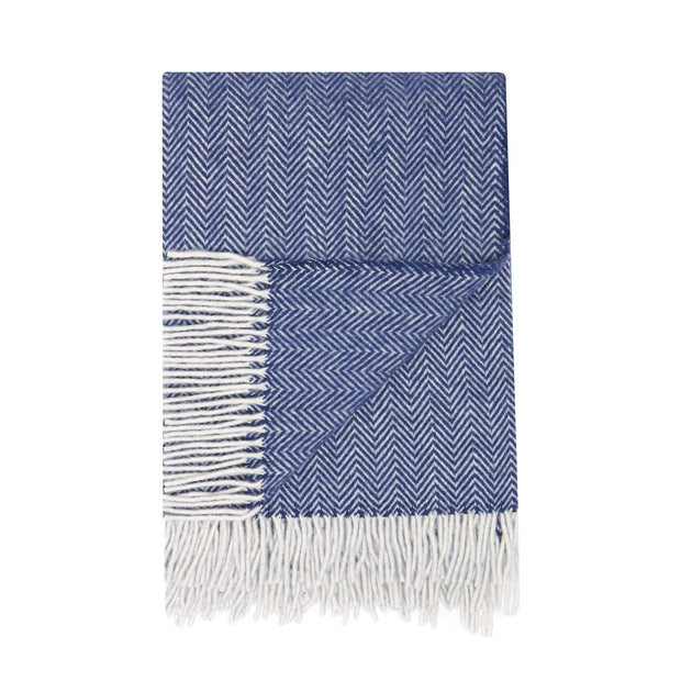 Waverley Mills Recycled;Throw Recycled Herringbone MP Throw Navy