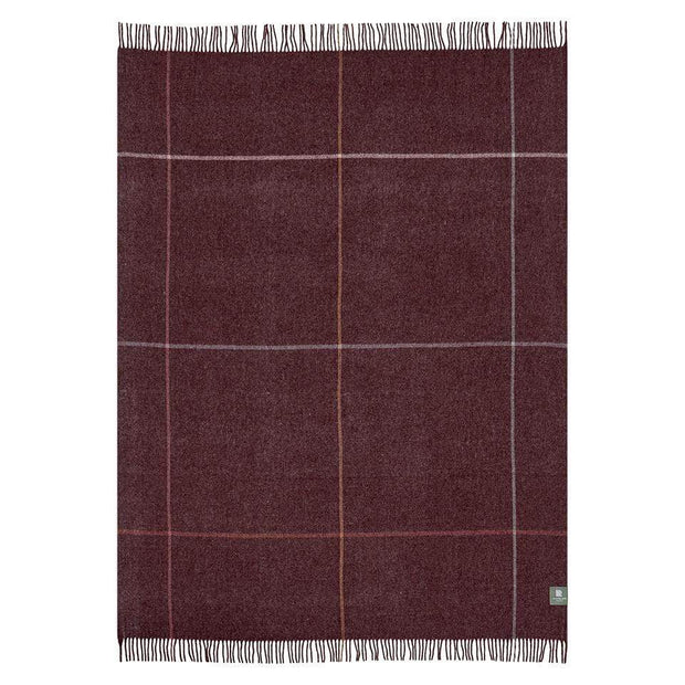 Waverley Mills Recycled;Throw Recycled Multi Grid Throw Wine