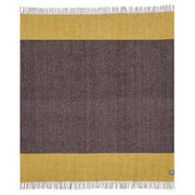 Waverley Mills Recycled;Throw Recycled Stripe Throw Brown/Yellow