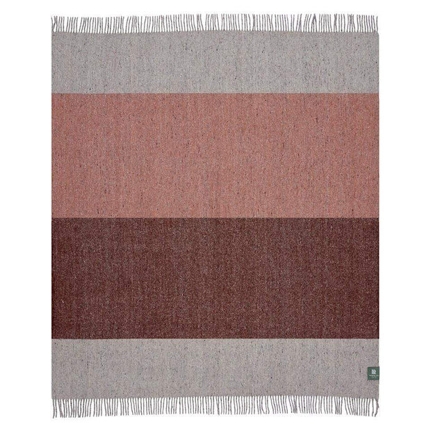 Waverley Mills Recycled;Throw Recycled Stripe Throw Grey/Rust/Orange