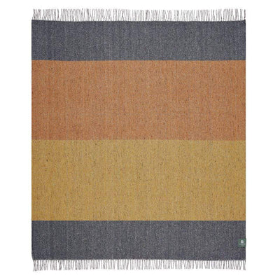 Waverley Mills Recycled;Throw Recycled Stripe Throw Grey/Yellow/Orange