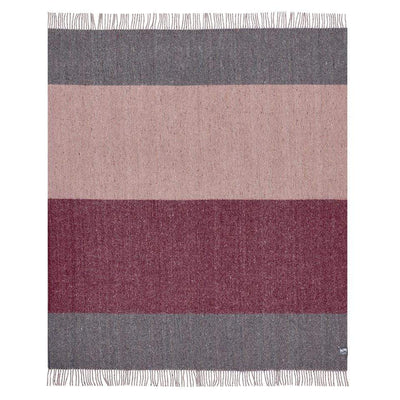 Waverley Mills Recycled;Throw Recycled Stripe Throw Pink/Burgundy/Grey