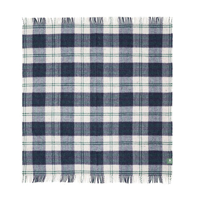 Waverley Mills Recycled;Throw Recycled Travel-Picnic Rug Navy/Forest
