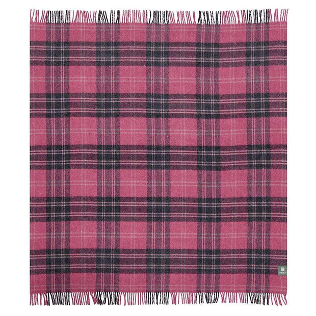 Waverley Mills Recycled;Throw Recycled Travel Rug Charcoal/Pink