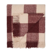 Waverley Mills Recycled;Throw Recycled Travel Rug Wine Check