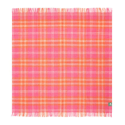 Waverley Mills Recycled;Throw Recycled Wool Travel-Picnic Rug Pink/Orange