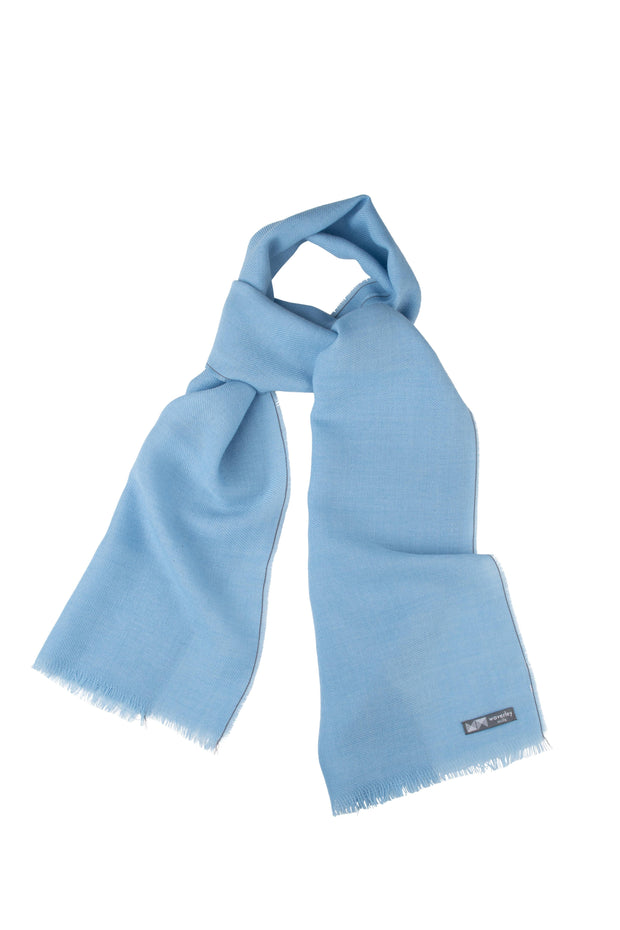 Waverley Mills Wool Blend;Scarf Wool Blend Scarf Chambray Blue