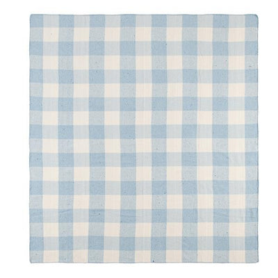 WM Online - Discounted Upcycled;Throw Upcycled Rustic Check Throw Blue/Natural