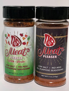 Meat Pleasers Low Sodium-No MSG-All-Purpose Seasoning- Set