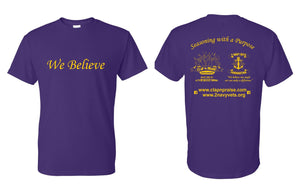 "2 Navy Vets Foundation ""We Believe"" T-Shirts Fundraiser Drive""""PER ORDERS"""