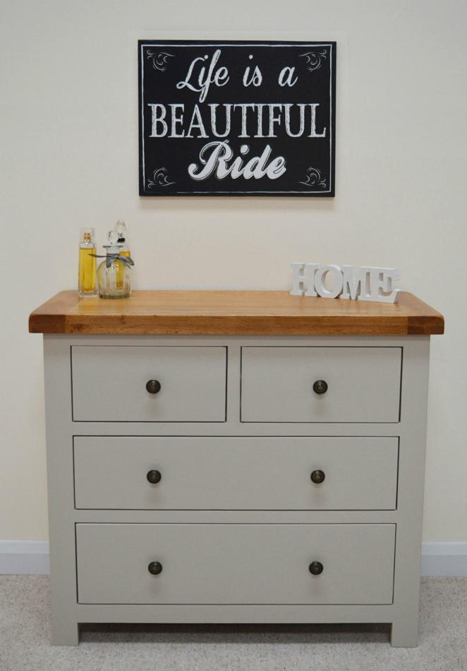 Swainswick Painted 2 Over 2 Drawer wide Chest of Drawers