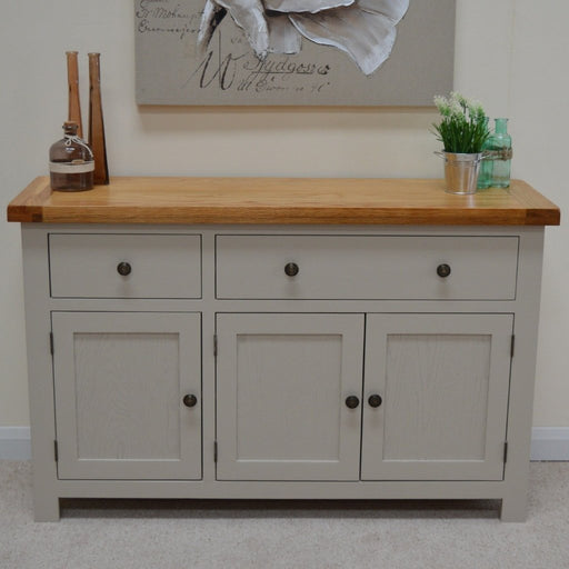 Swainswick Painted Large Oak Sideboard / Storage Dresser
