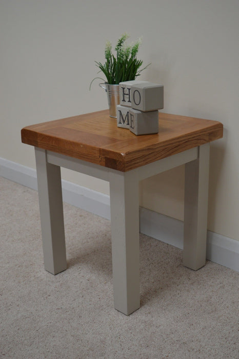 Swainswick Painted Oak Lamp Table / End / Side Table