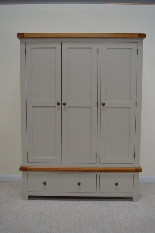 Swainswick Painted Three Door Wardrobe with Storage Drawers