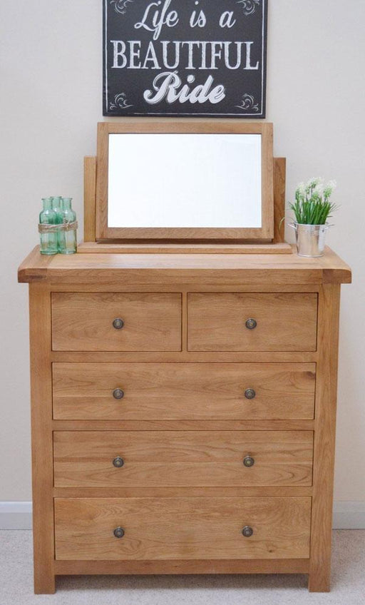 Beaufort Oak 2 Over 3 Drawer Chest Of Drawers