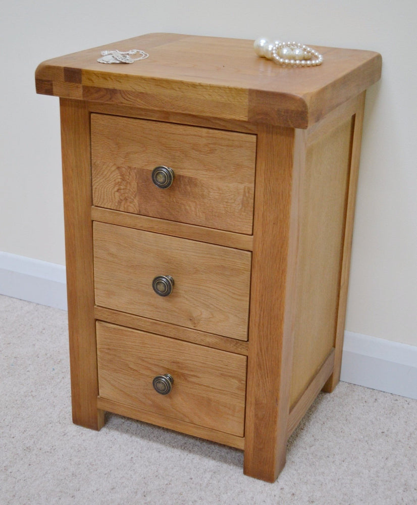 Beaufort Oak 3 Drawer Bedside
