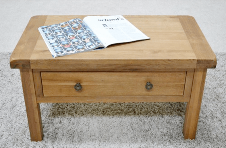 Beaufort Oak Coffee Table With Storage Drawers