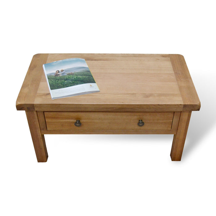 Beaufort Oak Coffee Table With Storage