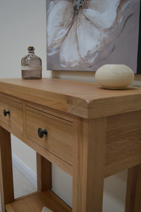 Beaufort Oak Console Table
