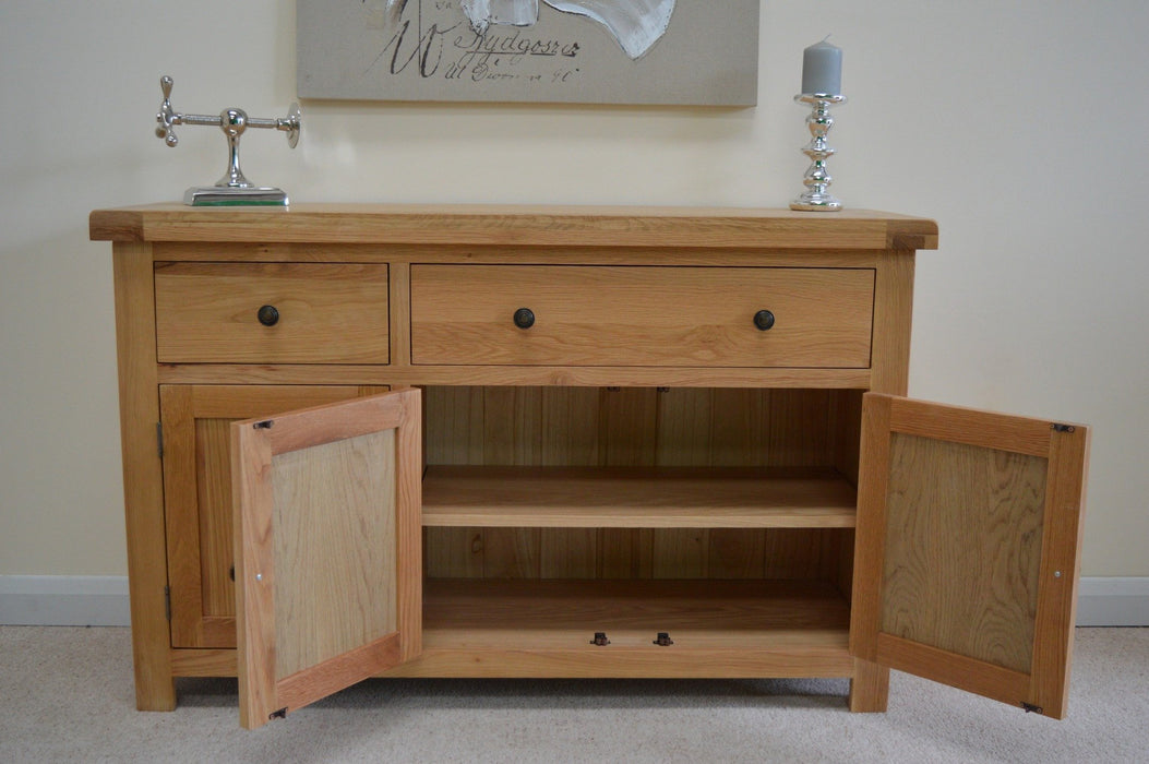 Beaufort Oak Large Oak Sideboard 3 Drawer 3 Cupboard Storage Dresser