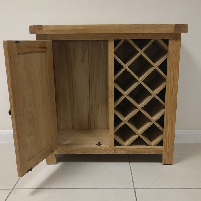 Beaufort Oak Wine Rack Storage Cupboard