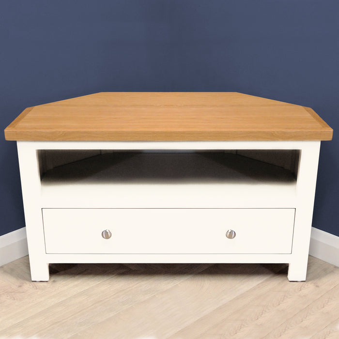 Belgravia Painted Oak Corner TV Unit