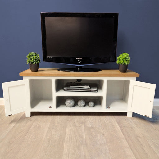 Belgravia Painted Oak Large TV Unit