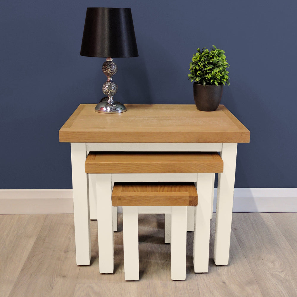 Belgravia Painted Oak Nest Of Tables