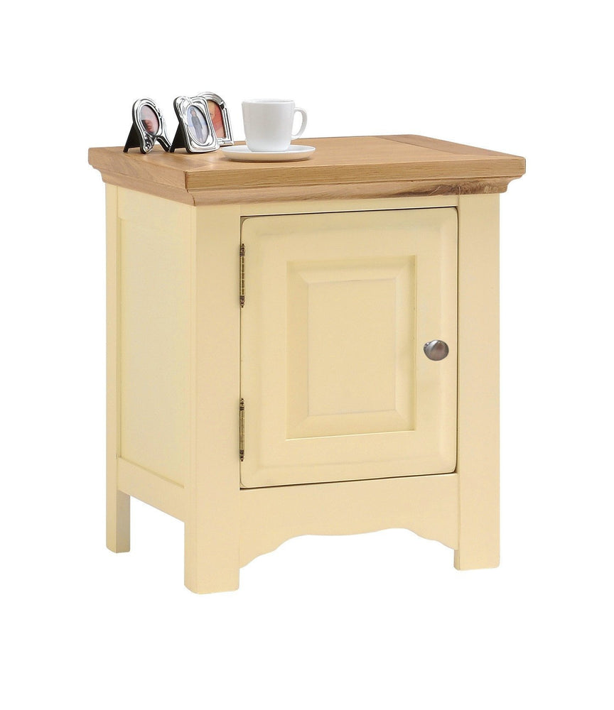 Devon Painted Oak Bedside Cabinet