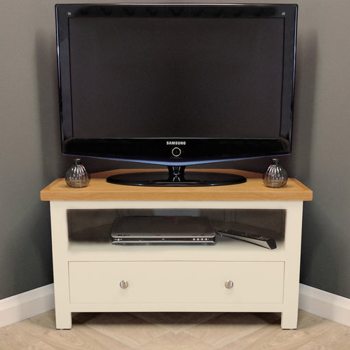 Cotswold Painted Oak Corner TV Unit