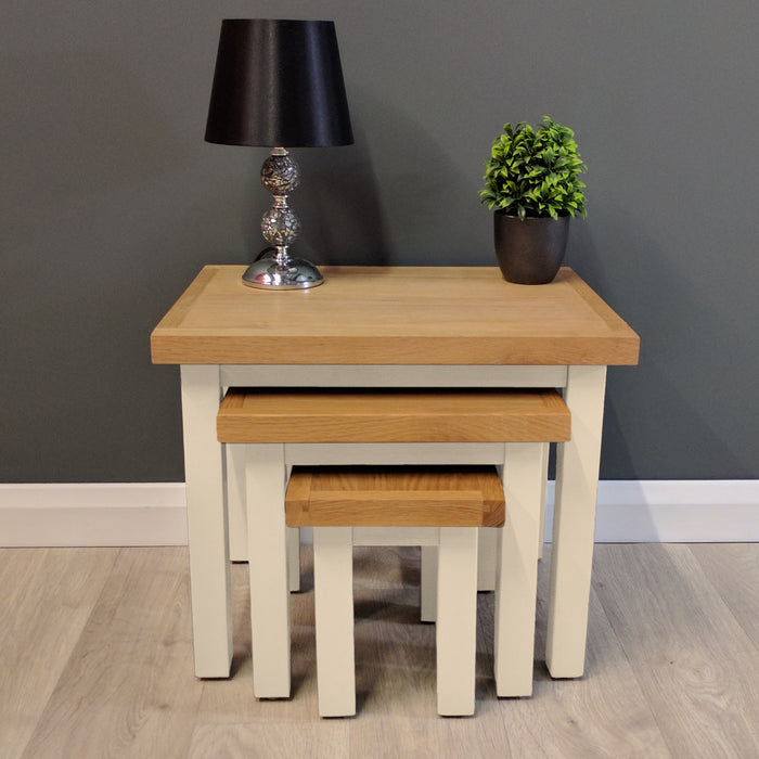 Cotswold Painted Oak Nest Of Tables