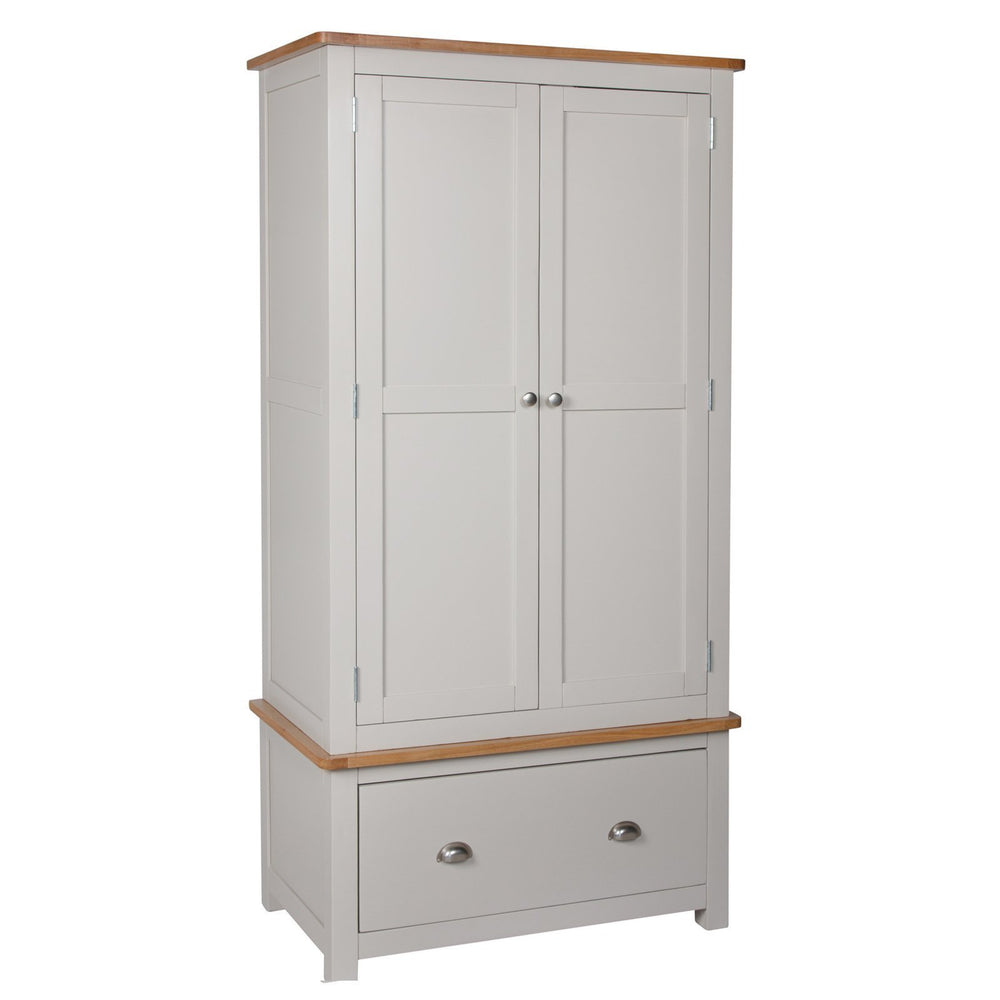 Essex Oak 2 Door Wardrobe