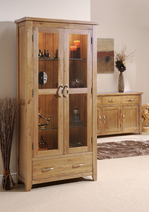 Oakland Oak 2 Door Glass Display Unit