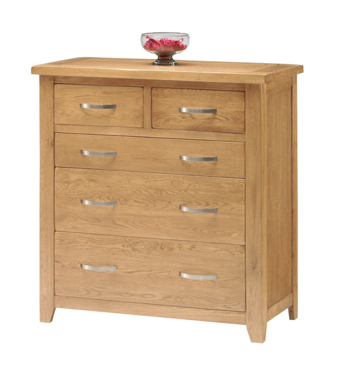 Oakland Oak 5 Drawer Chest Of Drawers