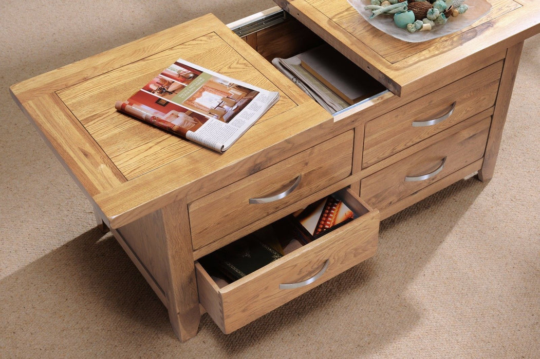 Oakland Oak Storage Coffee Table