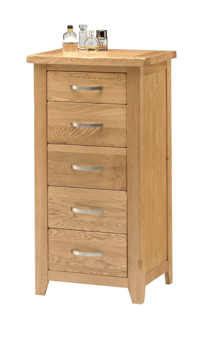 Oakland Oak Tallboy Chest of Drawers