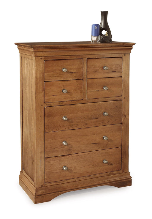 Brittany Oak 4 Over 3 Chest Of Drawers