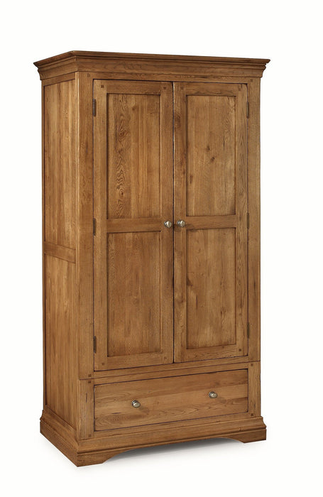 Brittany Oak Double Wardrobe