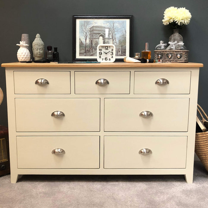 Padstow Painted 7 Drawer Multi Chest of Drawers
