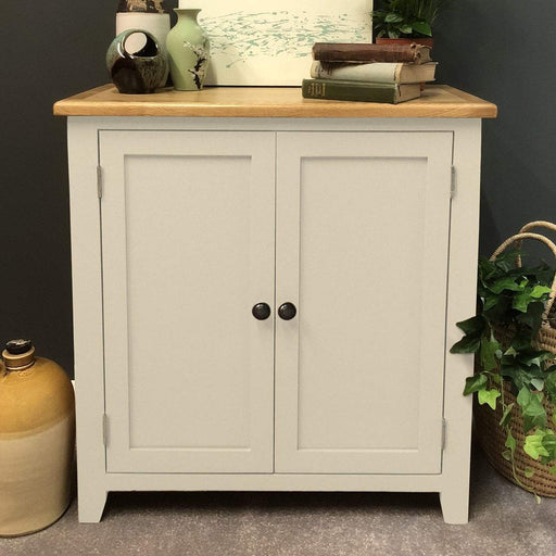 Padstow Painted Oak Linen Cupboard