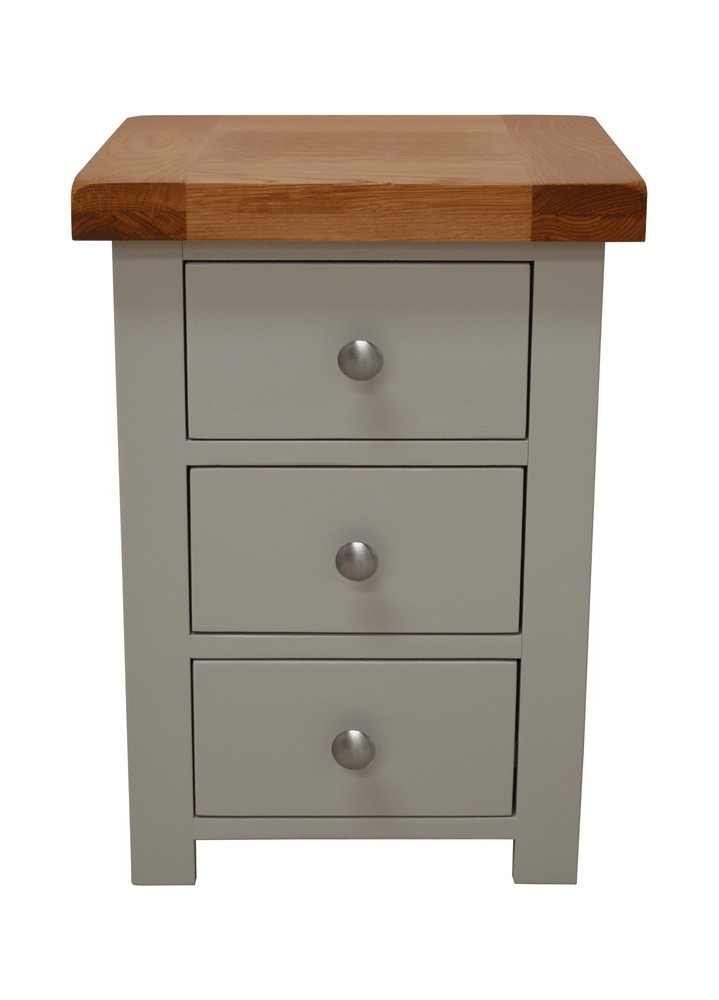 Camborne Painted 3 Drawer Bedside