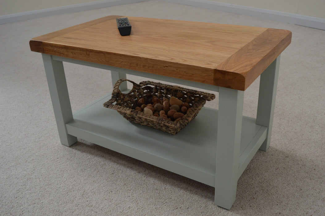 Camborne Painted Coffee Table with Shelf