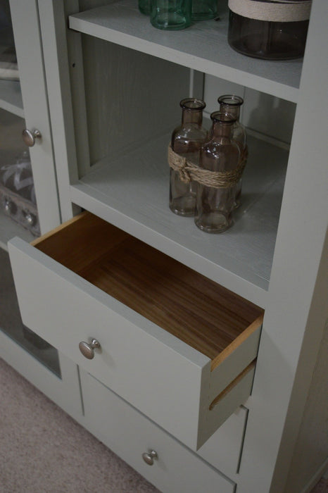 Camborne Painted Oak Combination Glass Display Cabinet